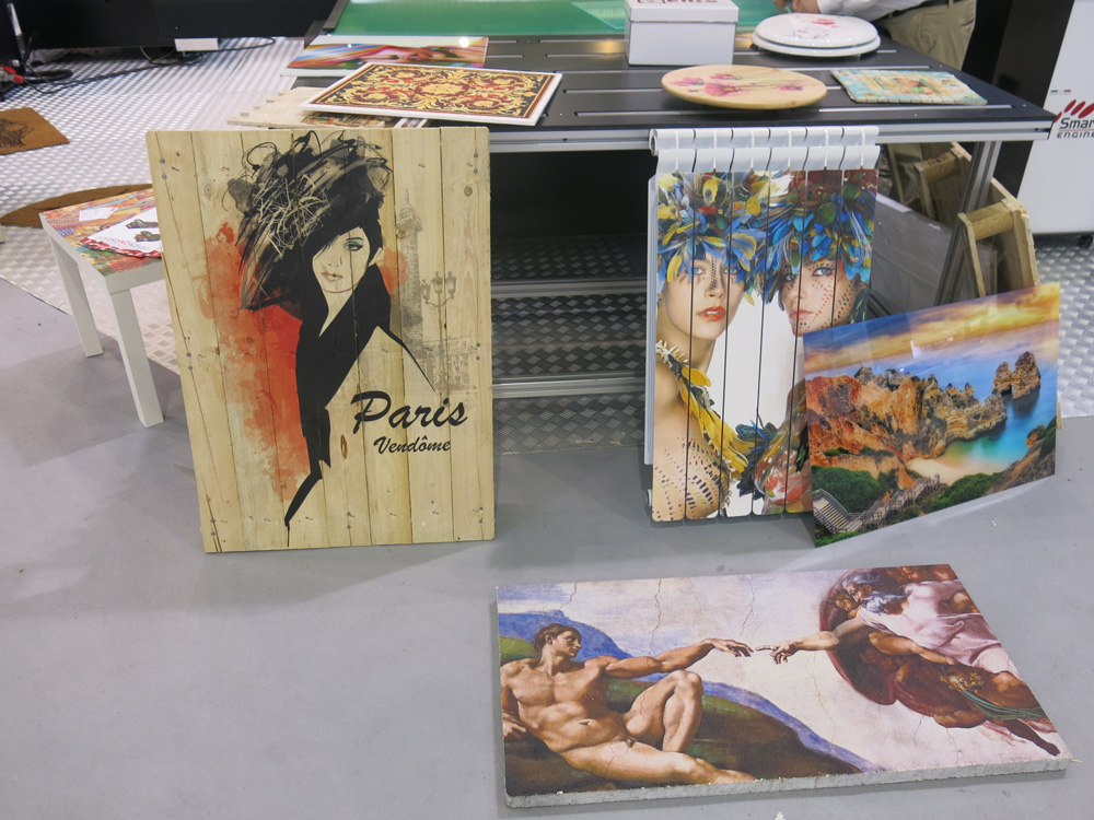 Impression sur divers supports au salon C!PRINT 2017